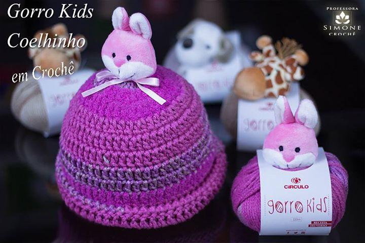 Gorro   Touca Kids Crochê Coelhinho - Professora Simone  https   www. f4d2e6f0960