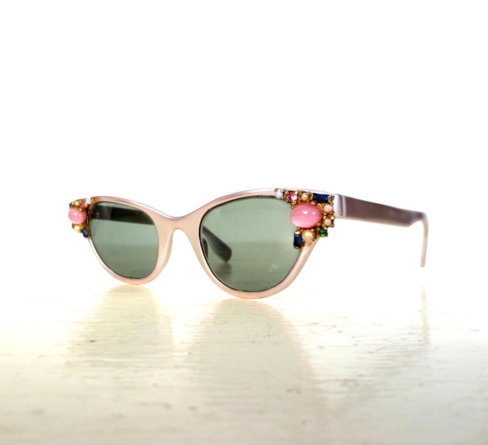 1950s jeweled pink aluminum Tura eyeglass frames | Karen Small Earth ...