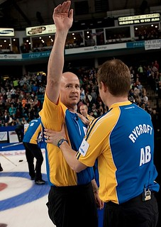 Kamloops B.C.Mar9_2014.Tim Hortons Brier.Alberta skip Kevin Koe,CCA/michael burns photo | by seasonofchampions