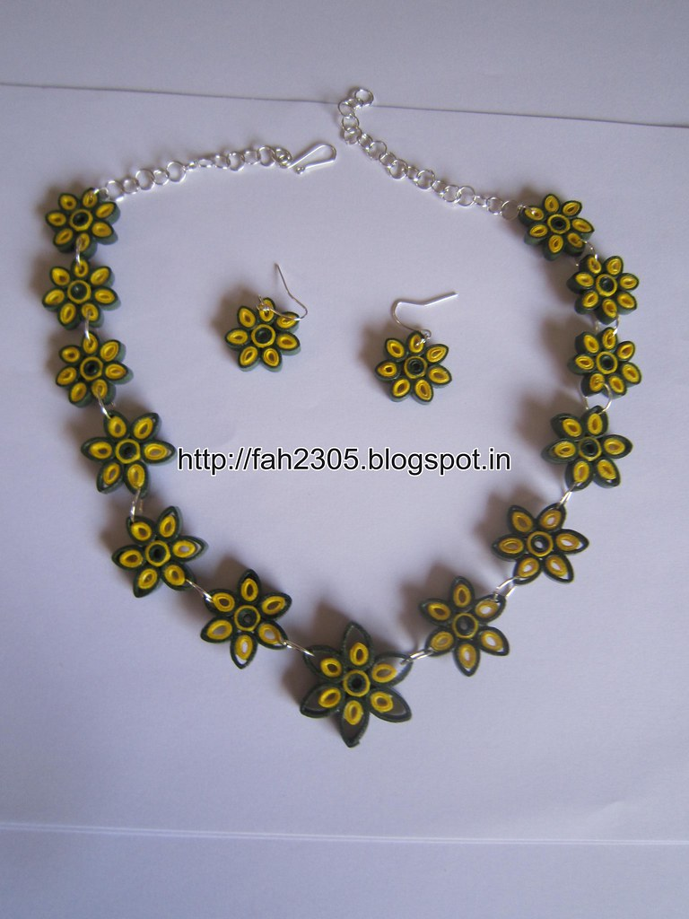 Handmade Jewelry Paper Quilling Flower Jewelry Set Fah0 Flickr