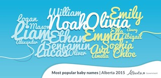 Baby Names 2015 | by Government of Alberta