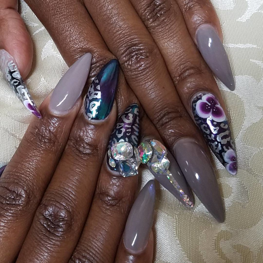 My Nails Featuring Designernailproducts Stones And 3d Bli Flickr