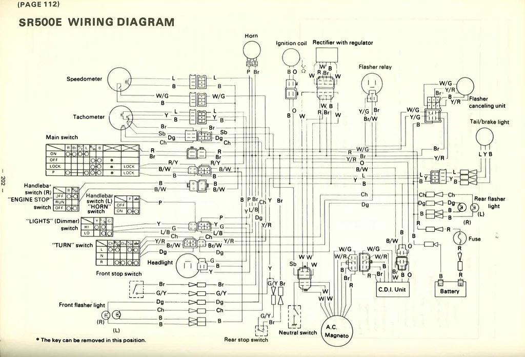 1978 yamaha sr500 flickr Honda Cb175 Wiring Diagram yamaha sr500 wiring diagram