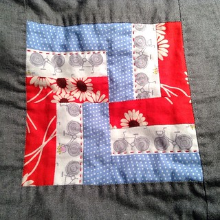 I'm adding some colored quilting to my #farmerswifequilt | by quirky granola girl