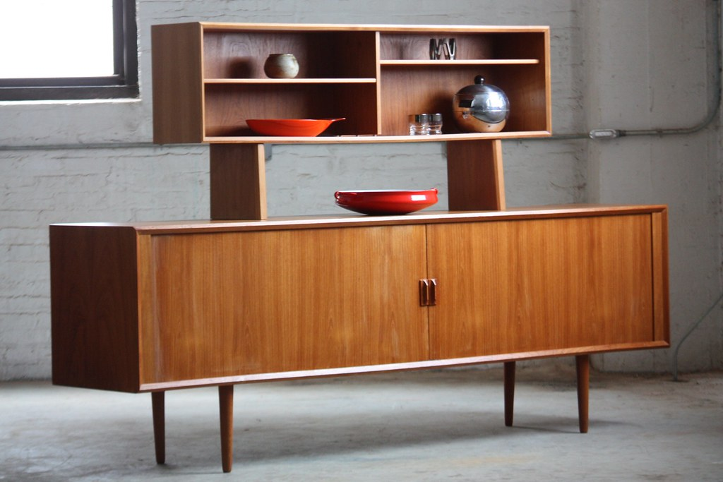 Danish Modern Buffet Credenza : Unforgettable danish mid century modern teak tambour door u flickr