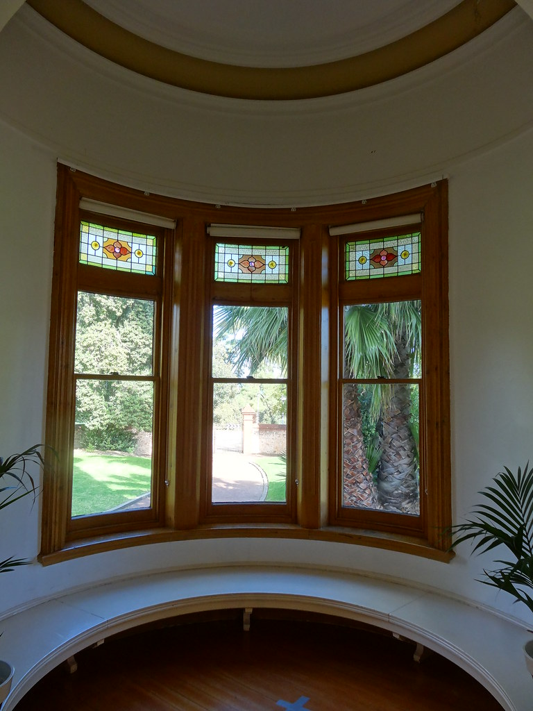 North Adelaide. Carclew House. Built 1897. Window seat in the round corner.