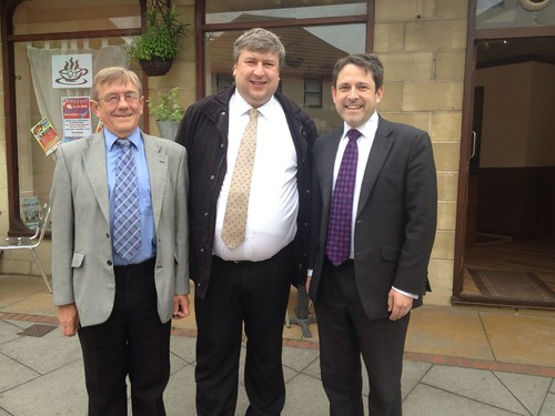 Group picture with Jon Hubbard, Andy Hinchcliffe and Duncan Hames