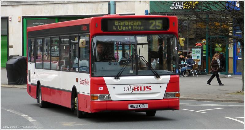Plymouth Citybus 020 R120OFJ