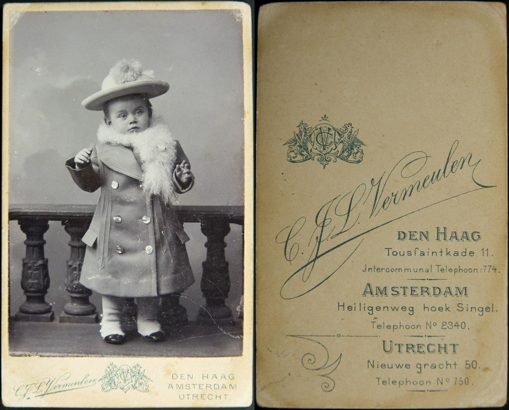 Whatsthatpicture Carte De Visite Of Young Dutch Child By Vermeulen Ca 1900