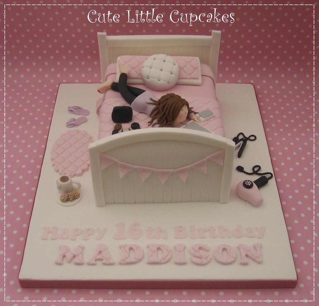 Teenage Girls 16th Birthday Cake Adored making this cake Flickr
