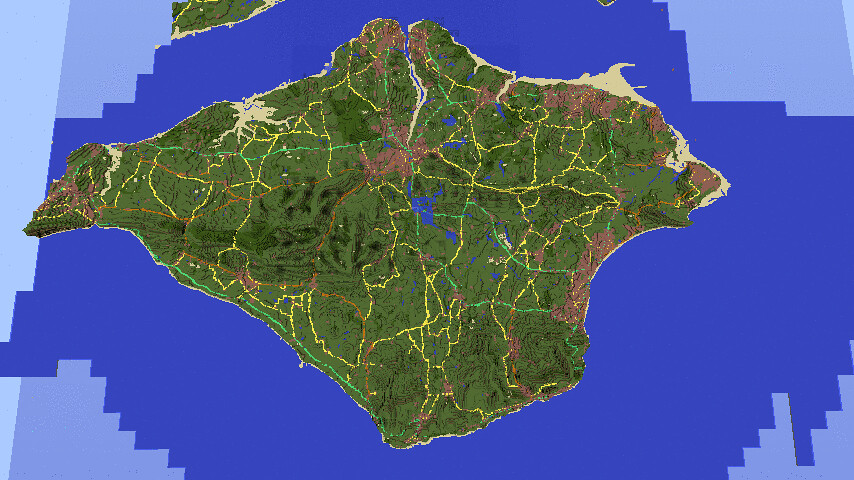 Minecraft map of Great Britain  Flickr