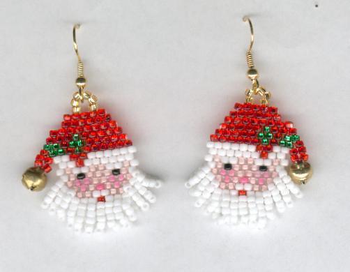 Santa Claus Earrings Holiday Earrings by HappyEverythingElse