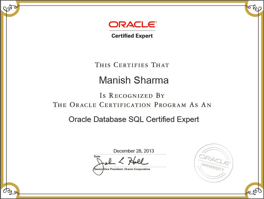 Oracle Certified Sql Expert Sql Expert I Still Remember T Flickr