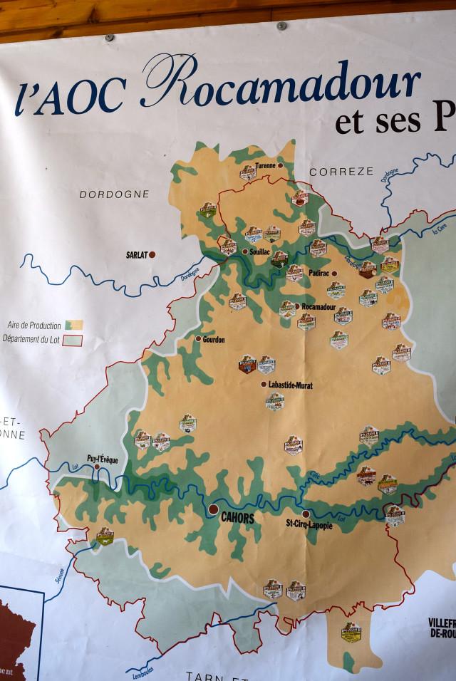 Map of L'AOC Rocomadour | www.rachelphipps.com @rachelphipps