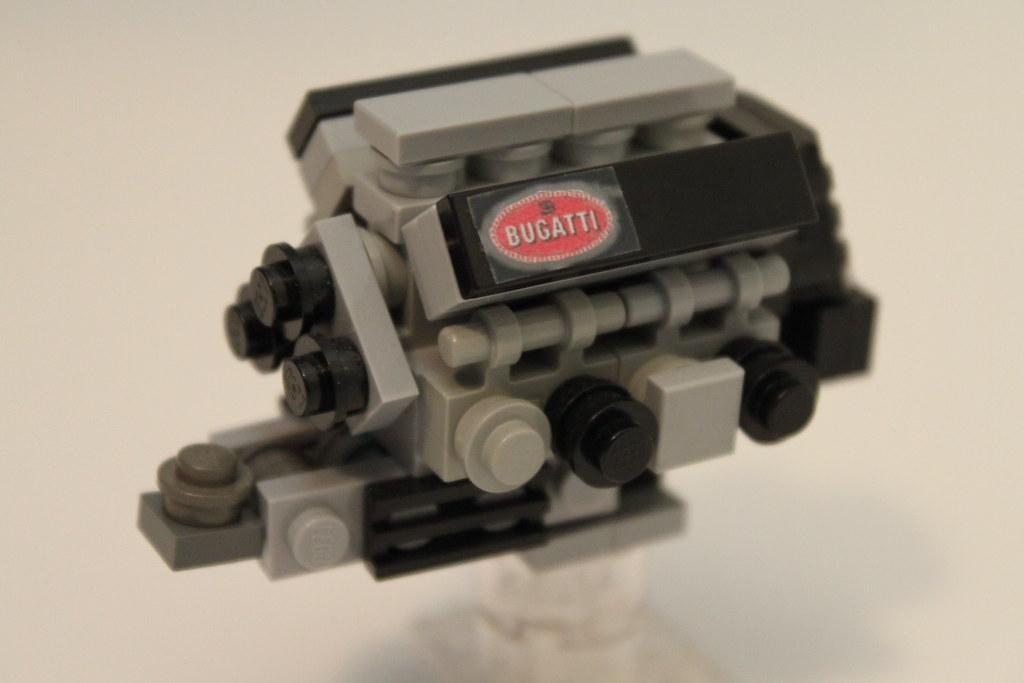 lego bugatti veyron 16 4 engine flickr. Black Bedroom Furniture Sets. Home Design Ideas