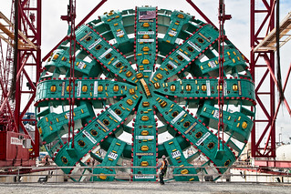 Last day above ground for Bertha's cutterhead | by WSDOT