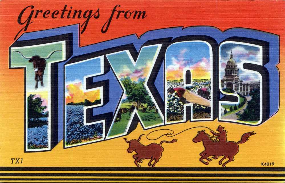 Greetings from texas large letter postcard production da flickr greetings from texas large letter postcard by shook photos m4hsunfo