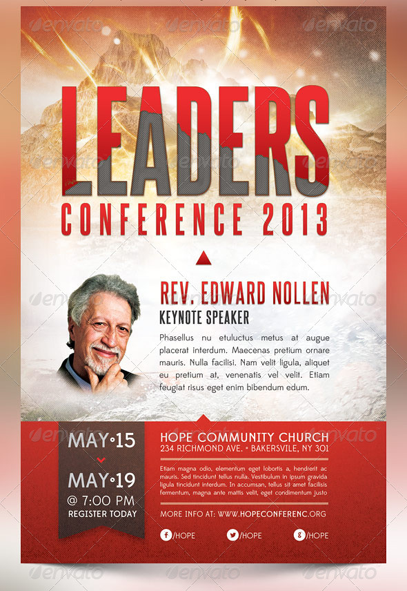 Leadership Conference Church Flyer Template The Leadership Flickr