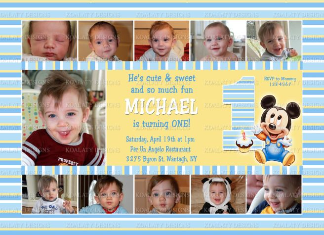 Baby mickey first birthday invitations collage baby micke flickr baby mickey first birthday invitations collage by kdesigns2006 filmwisefo