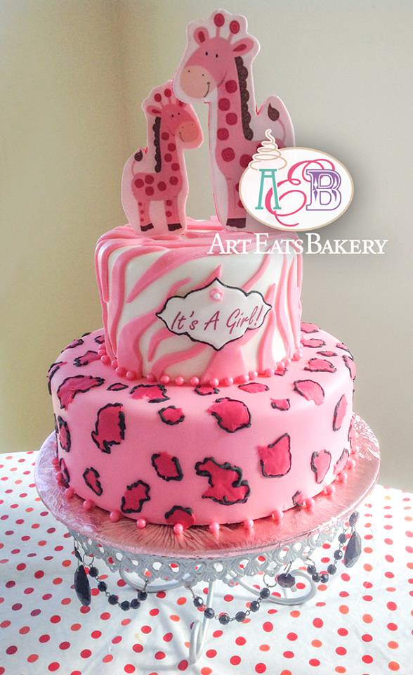 Animal Print Cheetah And Zebra Pink And Black Fondant Girl Flickr