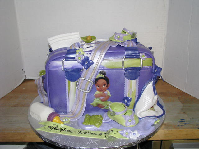 Princess Tiana Babyshower 3d Diaper Bag Cake By Sweet Conf Flickr