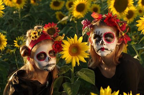Sunflower Sugar Skull Sisters