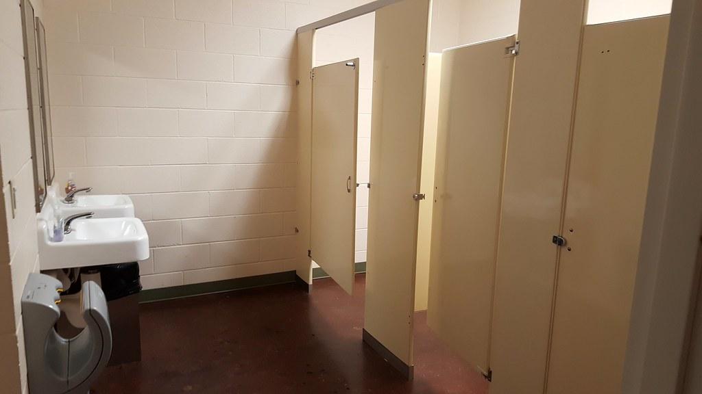 Bathroom Stall Outlet csac restroom stalls. women's has three stalls. men's has … | flickr