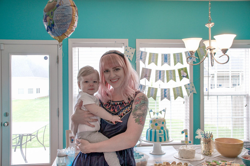 Landon's First Birthday Party