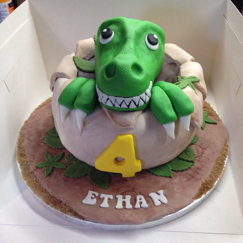 T Rex Birthday Cake Sugardust Cakes Flickr