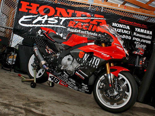 Honda East banner.  Yamaha bike. | by ekraft84