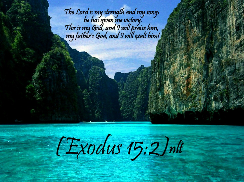 Bible Verses about exodus 15:2