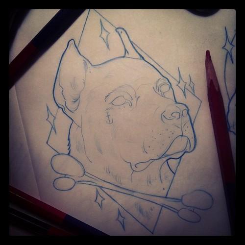 Dog Tattoo Designs Draw