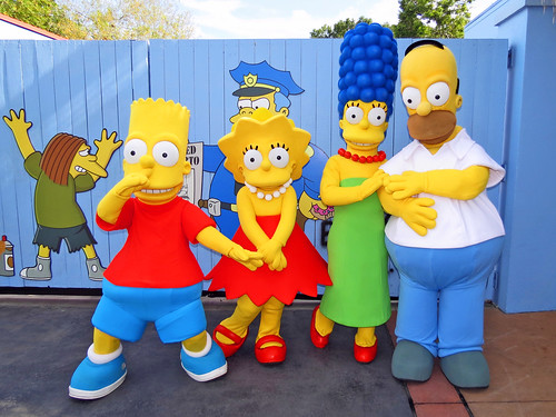 Bart lisa marge and homer simpson springfield - Marge simpson et bart ...