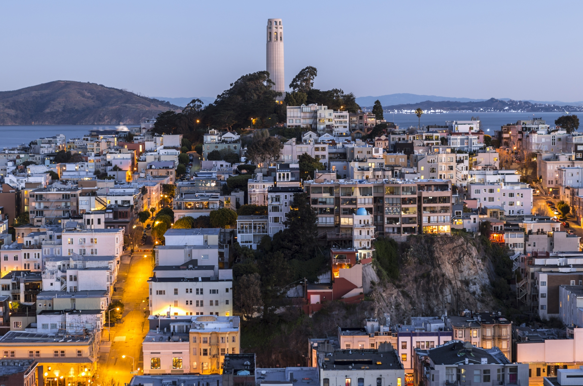 Coit Tower Dusk San Francisco