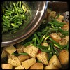 #Roasted # Potatoes & #Scapes  #Homemade #CucinaDelloZio - parboil potatoes and mix with scapes +
