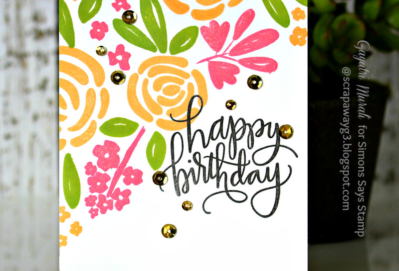 Happy Birthday floral closeup