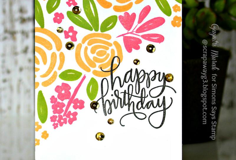 Happy Birthday floral closeup