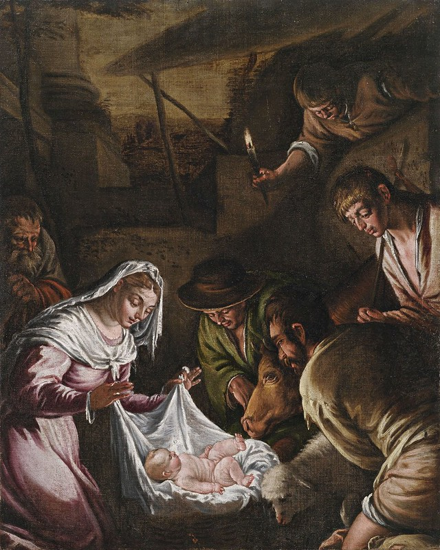 Francesco Bassano - Adoration by the Shepherds