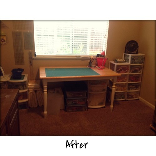 Clean at last. Now time to getting my sewing room messy with a new project. | by Jenniffier
