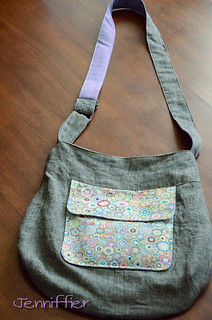 Finished sidekick tote handle extended | by Jenniffier