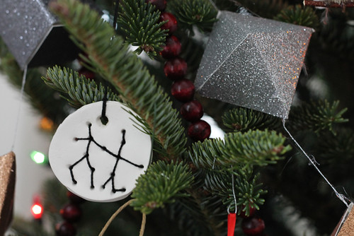 DIY painted sculpy Christmas ornaments and embroidered astrology constellation ornaments | by Célèste of Fashion is Evolution