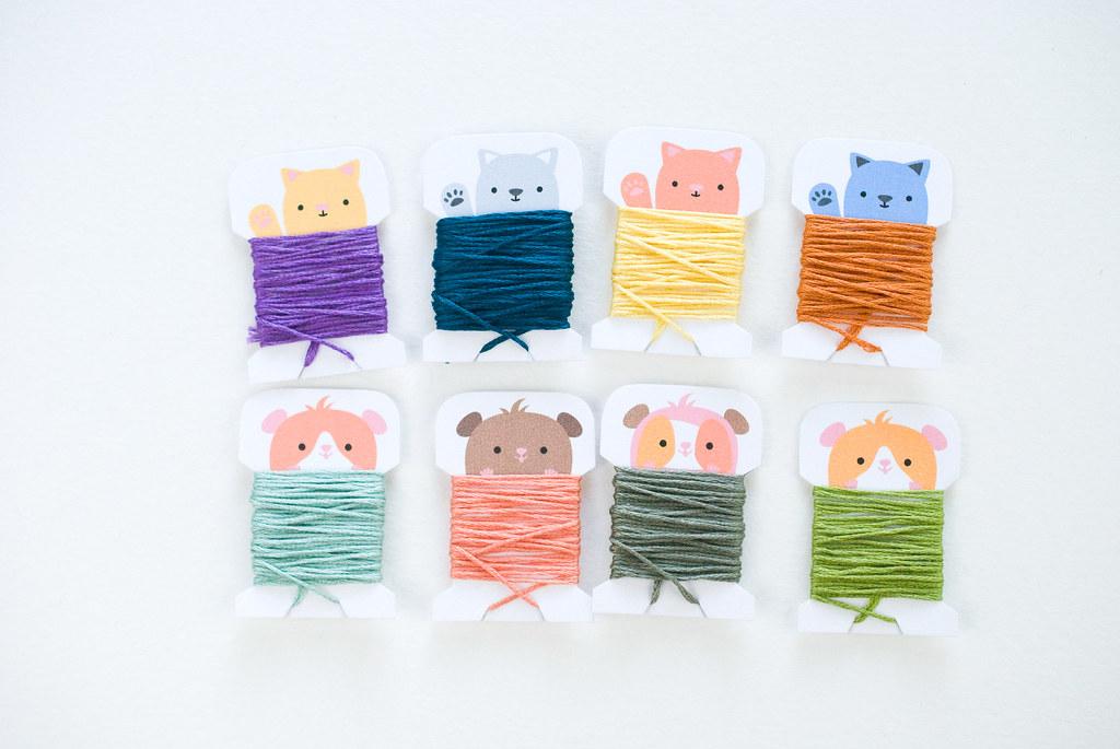 Sweet Creatures Printable Floss Bobbins