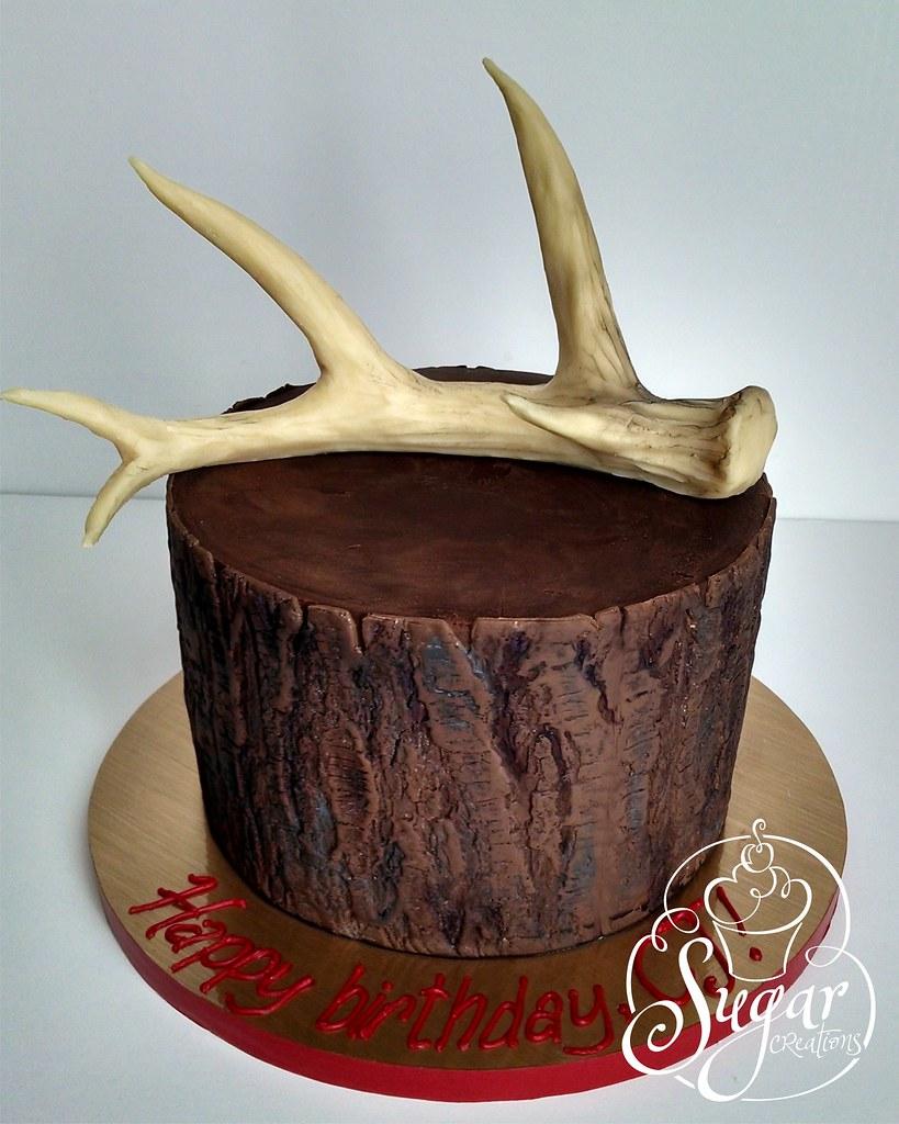 Deer Antler Birthday Cake Rebecca Sutterby Flickr