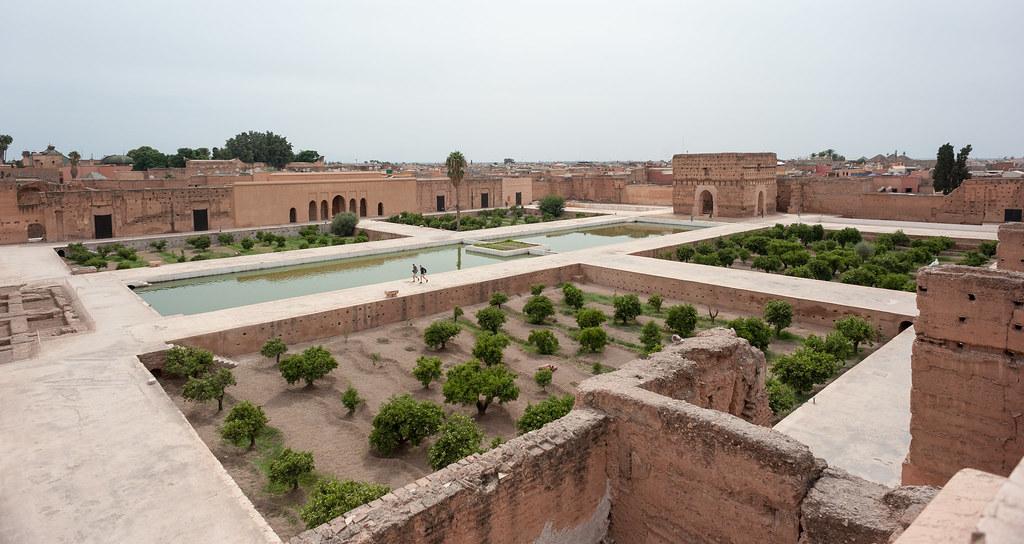 badi palace ruins marrakech morocco