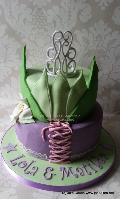 Disney Princess Tiana And Rapunzel Birthday Cake A Disney Flickr