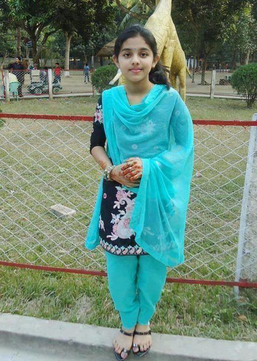 Indian beautiful teen at park