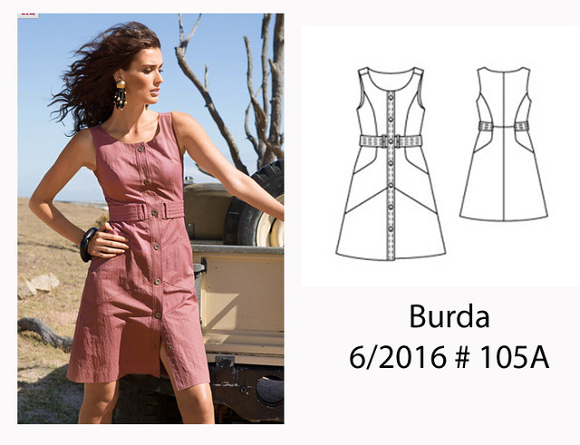 Burda 105 dress image