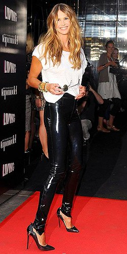 Elle Macpherson In Vinyl Pants Vinyl Beauties Flickr