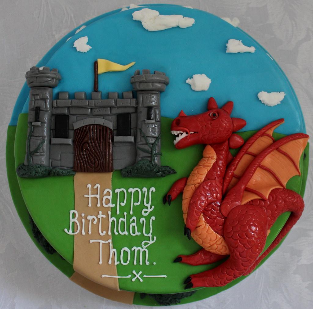 Cool Dragon Birthday Cake Pauls Creative Cakes Flickr Funny Birthday Cards Online Alyptdamsfinfo
