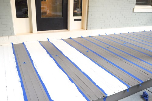 DIY Striped Front Porch | by emily @ go haus go
